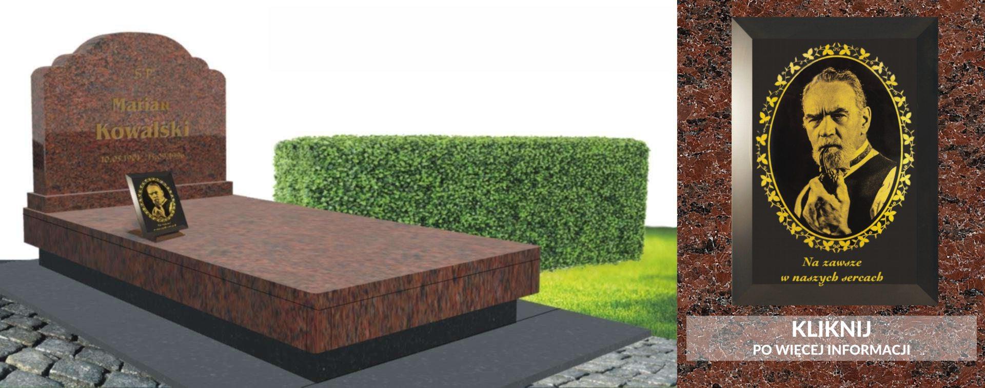 Zdj cia na pomnik w formie fotokryszta u idealne na klasyczny nagrobek